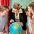 geografia · lekcja · portret · uczniowie · patrząc · świecie - zdjęcia stock © kzenon