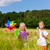 two children in summer field playing stock photo © kzenon