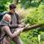 perdido · camping · Pareja · mapa · brújula · forestales - foto stock © kzenon