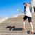 happy young asian tourist climbing stairs stock photo © kzenon