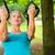 personnes · parc · suspension · entraîneur · femme · de · remise · en · forme - photo stock © kzenon