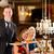 De · ober · wijnglas · gelukkig · restaurant - stockfoto © kzenon