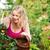 hasat · domates · bahçıvanlık · kadın · yeme · iç - stok fotoğraf © Kzenon
