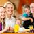 mutlu · anne · bebek · kahvaltı · ev · aile - stok fotoğraf © kzenon