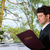 businessman have a lunch in restaurant stock photo © kzenon