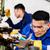 metal workers in industrial workshop grinding stock photo © kzenon