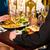 счастливым · пару · романтические · дата · ресторан · человека - Сток-фото © Kzenon