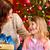 мамы · дочь · открытие · Рождества · настоящее · веселый - Сток-фото © kzenon