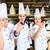 Asya · şefler · pişirme · restoran · portre · üç - stok fotoğraf © Kzenon