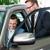 車 · セールスマン · 座って · ショールーム · デスク · 仕事 - ストックフォト © kzenon