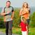 家族 · ジョギング · 屋外 · 子供 · 子供 · 自然 - ストックフォト © kzenon