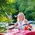 女性 · カヌー · 森林 · 川 · スポーツ · ボート - ストックフォト © kzenon