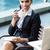 mujer · de · negocios · de · trabajo · portátil · potable · café · negocios - foto stock © kzenon