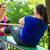 women doing pregnancy exercises in nature stock photo © kzenon