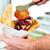 kebab · tányér · sültkrumpli · szett · asztal · étterem - stock fotó © kzenon
