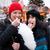 mooie · vrouwen · snoep · kerstboom · gelukkig · achtergrond - stockfoto © kzenon