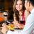 jantar · restaurante · dia · dos · namorados · mesa · de · jantar · rústico - foto stock © kzenon