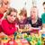 jongen · familie · vrienden · vieren · verjaardagsfeest · groep - stockfoto © kzenon