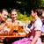 kettő · boldog · pár · ül · sör · kert - stock fotó © kzenon