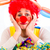 печально · клоуна · женщину · музыку · лице - Сток-фото © kzenon