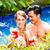 gyönyörű · pár · iszik · koktélok · úszómedence · víz - stock fotó © kzenon