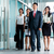 asian business team marching into office stock photo © kzenon