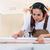 carpenter woman working in her workshop stock photo © kzenon