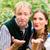 couple in bavarian clothes blows a kiss stock photo © kzenon