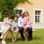 familie · vergadering · weide · home · gelukkig · gezin · zomer - stockfoto © kzenon