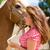 女性 · 馬 · ポニー · ファーム · 幸せ · 小さな - ストックフォト © Kzenon