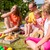 kinderen · picknick · gelukkig · eten · watermeloen · buitenshuis - stockfoto © kzenon