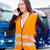 vrouwelijke · vrachtwagens · logistiek · asian · opzichter · mobiele · telefoon - stockfoto © kzenon