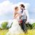 par · celebrar · boda · día · champán - foto stock © kzenon