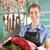 portret · slager · voedsel · werk · vlees · hoed - stockfoto © kzenon