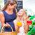 élelmiszerbolt · vásárlás · nő · gyermek · áruház · választ - stock fotó © kzenon