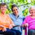 pielęgniarki · chat · starszy · kobieta · dom · starców · człowiek - zdjęcia stock © kzenon