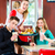 people in american diner or restaurant eating fast food stock photo © kzenon