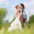 ブライダル · ペア · を祝う · 結婚式 · 日 · シャンパン - ストックフォト © Kzenon