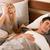 uomo · infastidito · russare · partner · giovane · dormire - foto d'archivio © kzenon