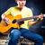 gitáros · játszik · gitár · hang · zenei · stúdió · zene - stock fotó © kzenon