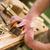 carpenter with sanding block in carpentry stock photo © kzenon