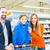 homem · empurrando · supermercado · corredor · mercearia · feliz - foto stock © kzenon