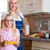 mother and daughter cooking together stock photo © kzenon