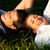 couple lying on meadow in the sunshine stock photo © kzenon