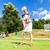 idős · nő · fitt · labda · testmozgás · személyi · edző - stock fotó © kzenon