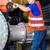 technicians working on valve in factory or utiltiy stock photo © kzenon