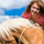 lovas · ló · legelő · nő · nyár · farmer - stock fotó © kzenon