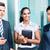 Asia · equipo · de · negocios · debate · indio · CEO - foto stock © Kzenon