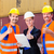 shipping company workers in front of containers stock photo © kzenon
