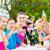 amigos · aire · libre · fiesta · en · el · jardín · brindis · sidra · grupo - foto stock © kzenon